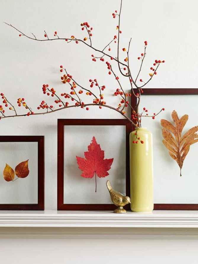 Как украсить дом осенью природными материалами