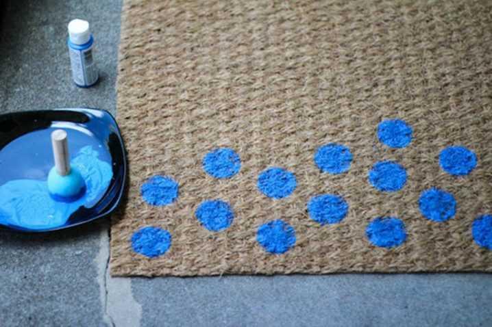 Необычные идеи ковриков перед дверью