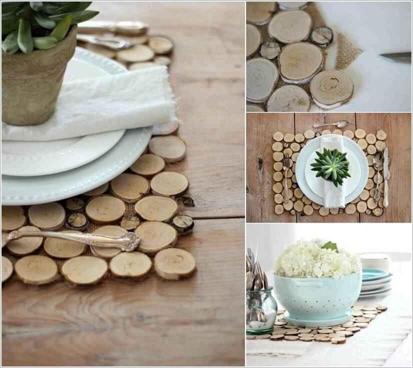 15 проектов предметов декора из спилов дерева