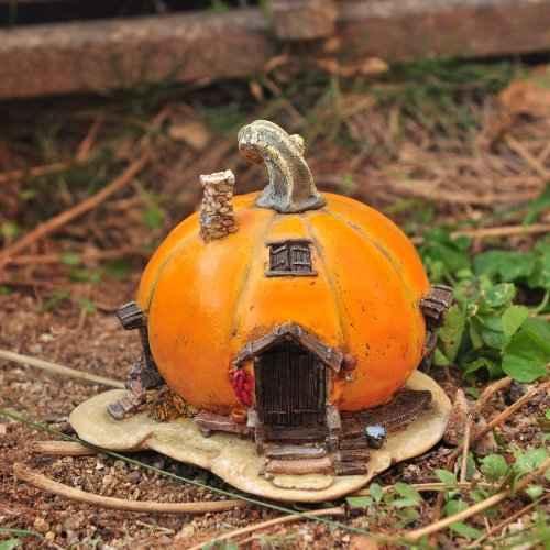 Очаровательные домики фей из тыквы 13 | Дока-Мастер