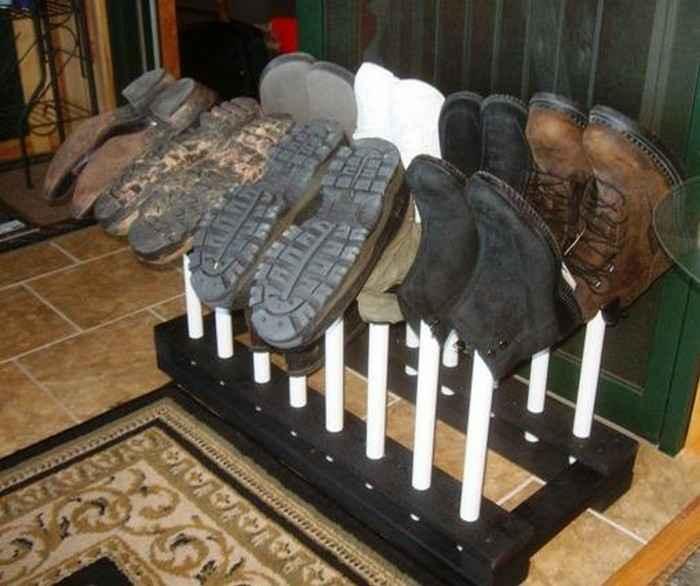 Простая и удобная стойка для обуви своими руками