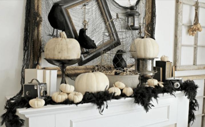 Как украсить камин на Хэллоуин