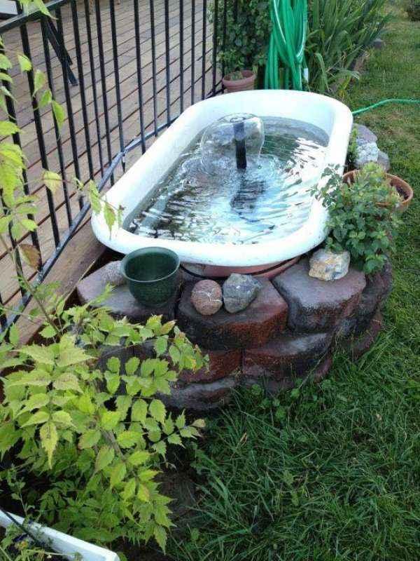 10 проектов садовых прудиков из ванны своими руками 3 | Дока-Мастер