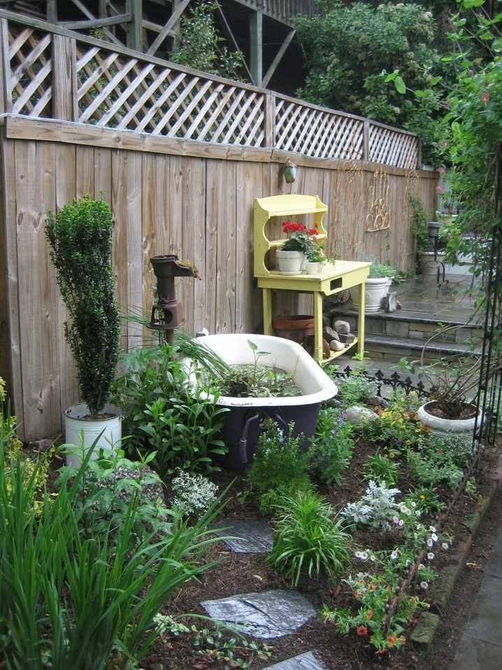 10 проектов садовых прудиков из ванны своими руками 4 | Дока-Мастер