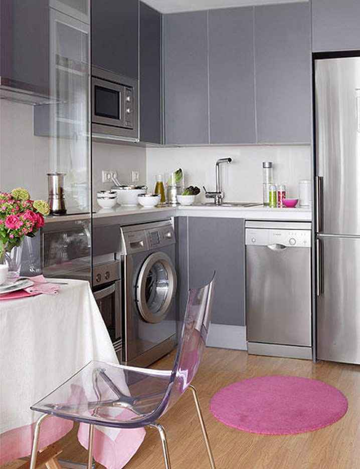 Квадратные кухни для небольших пространств 4   Дока-Мастер