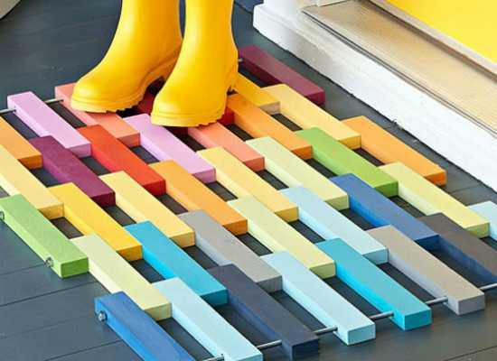 Необычные идеи ковриков перед дверью 4 | Дока-Мастер