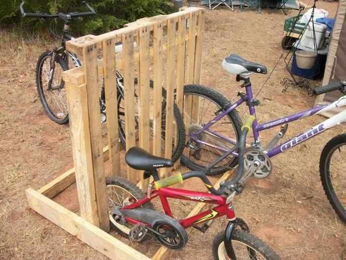 Как сделать стойку для велосипедов из поддонов 6 | Дока-Мастер