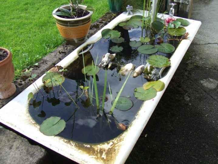 10 проектов садовых прудиков из ванны своими руками 5 | Дока-Мастер