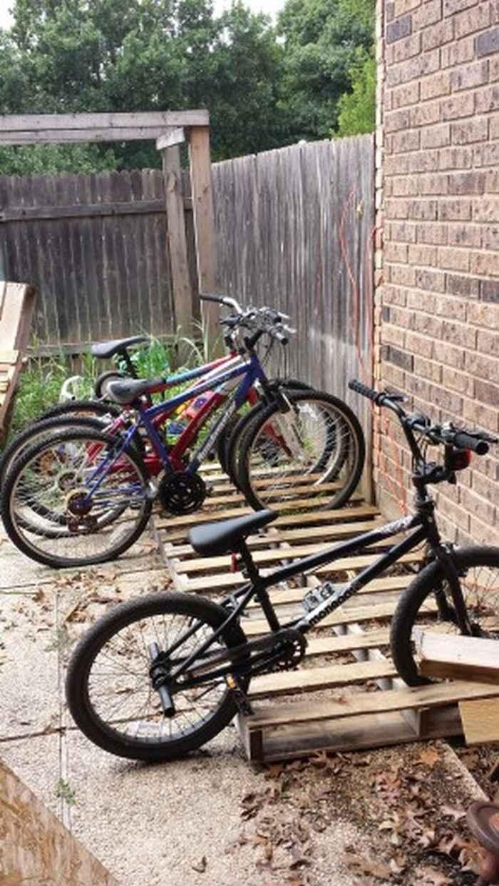 Как сделать стойку для велосипедов из поддонов 7 | Дока-Мастер