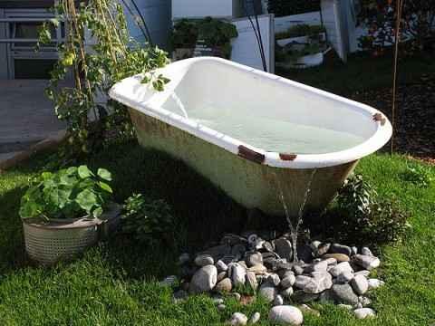 10 проектов садовых прудиков из ванны своими руками 6 | Дока-Мастер