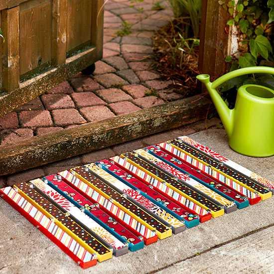 Необычные идеи ковриков перед дверью 6 | Дока-Мастер