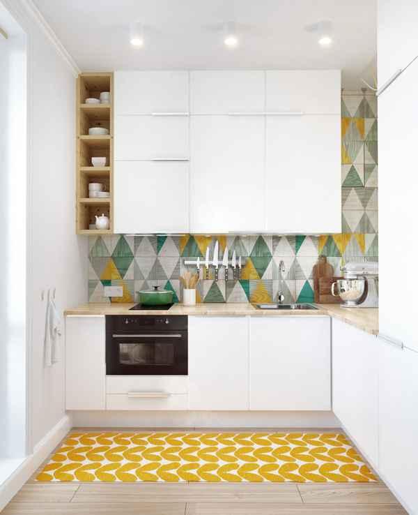 Квадратные кухни для небольших пространств 7   Дока-Мастер
