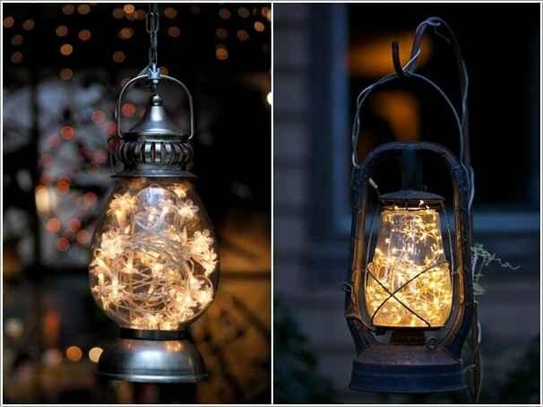 15 идей нестандартного оформления садовых фонарей