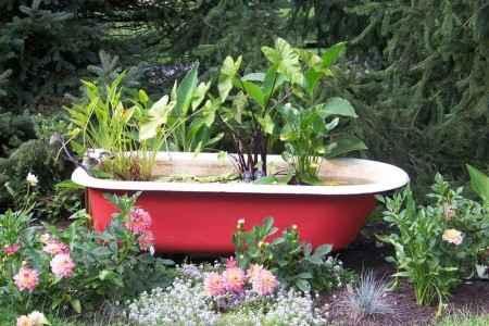 10 проектов садовых прудиков из ванны своими руками 8 | Дока-Мастер