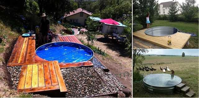 Как сделать бюджетный бассейн во дворе 8 | Дока-Мастер