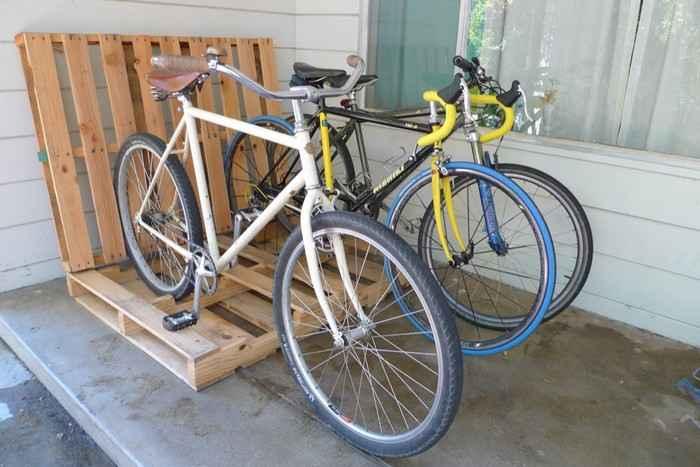 Как сделать стойку для велосипедов из поддонов 10 | Дока-Мастер