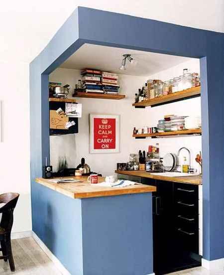 Квадратные кухни для небольших пространств 9   Дока-Мастер