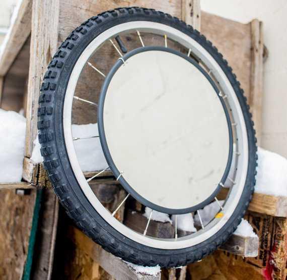 Интересные идеи домашнего декора из старого велосипедного колеса 5 | Дока-Мастер