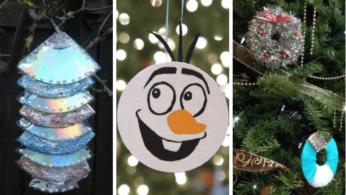 Новогодние и Рождественские украшения из компакт-дисков 2 | Дока-Мастер