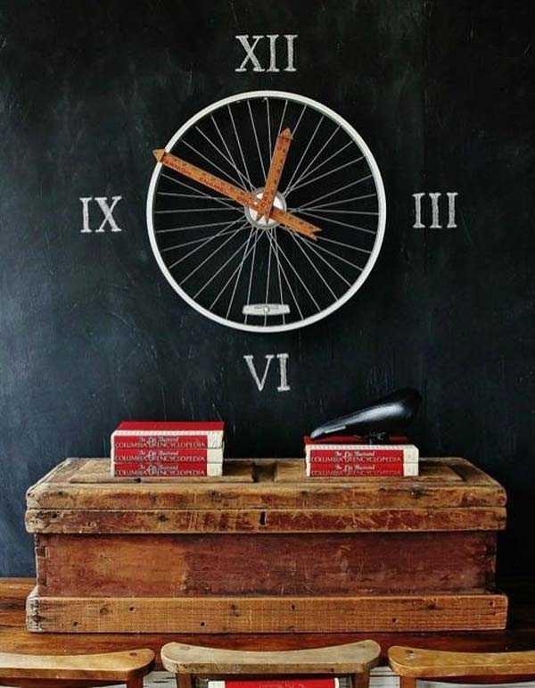 Интересные идеи домашнего декора из старого велосипедного колеса 1 | Дока-Мастер