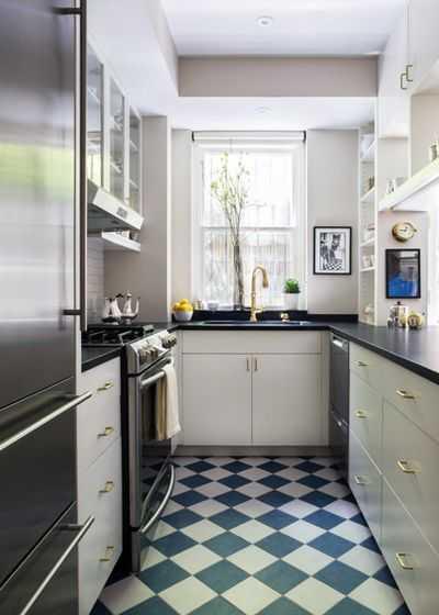 9 примеров узких кухонь 11   Дока-Мастер