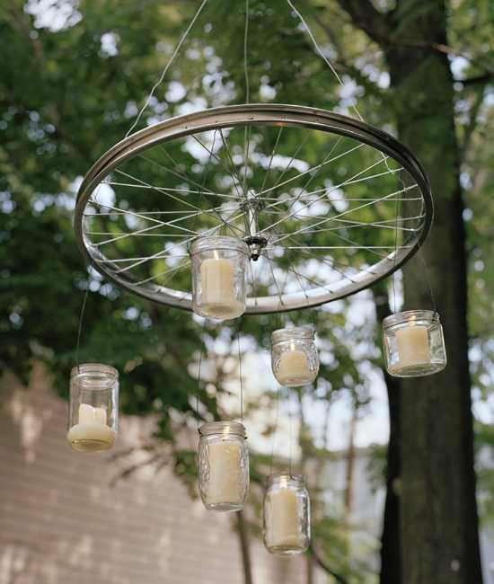 Интересные идеи домашнего декора из старого велосипедного колеса 2 | Дока-Мастер