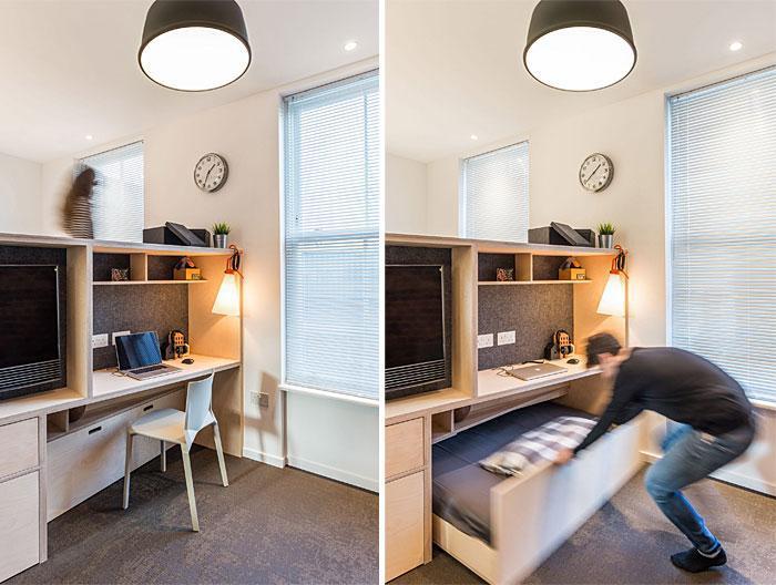 Идеи которые помогут спрятать гостевую кровать 25 | Дока-Мастер