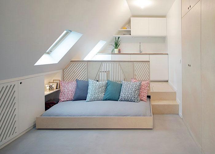 Идеи которые помогут спрятать гостевую кровать 28 | Дока-Мастер