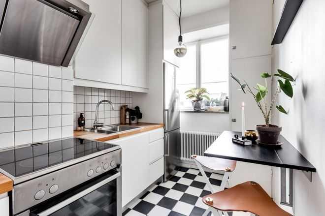 9 примеров узких кухонь 3   Дока-Мастер