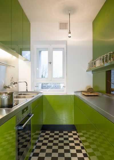9 примеров узких кухонь 4   Дока-Мастер