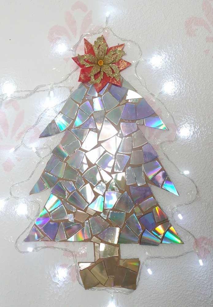 Новогодние украшения из ненужных компакт-дисков 4   Дока-Мастер