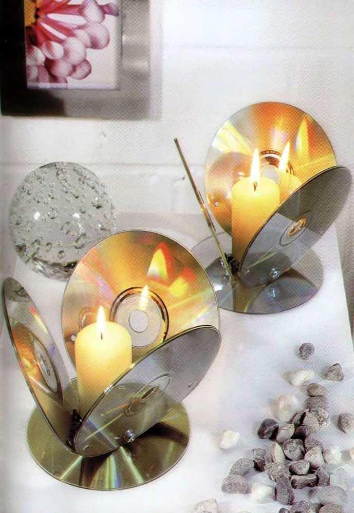 Новогодние украшения из ненужных компакт-дисков 5   Дока-Мастер