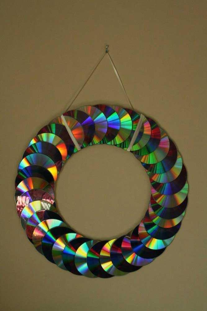 Новогодние украшения из ненужных компакт-дисков 6   Дока-Мастер