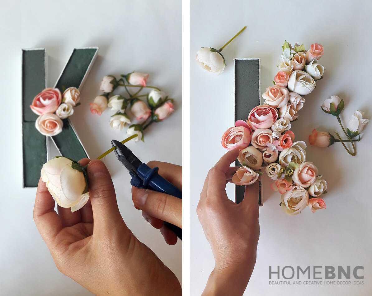 Как сделать своими руками букву или цифру из цветов