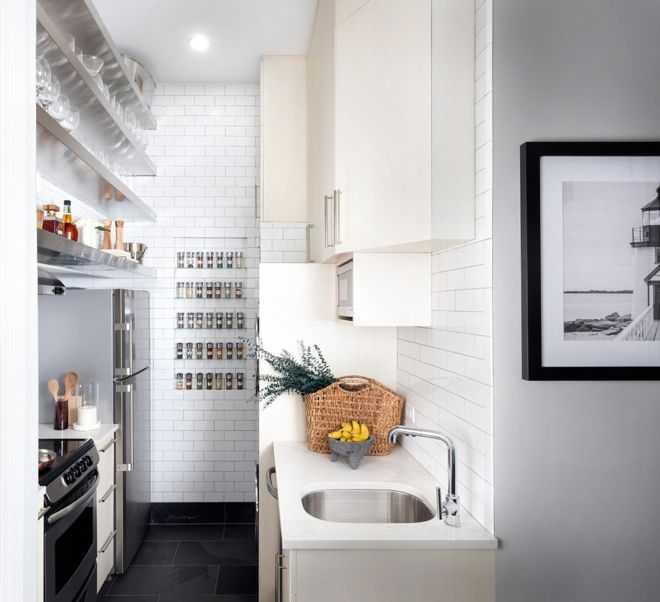 9 примеров узких кухонь 8   Дока-Мастер