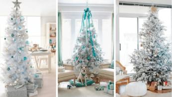 Белые елки как часть декора 7 | Дока-Мастер