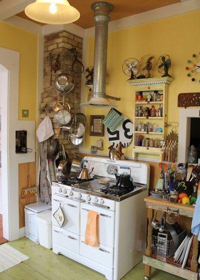 12 старых кухонь, которые дарят вдохновение 05
