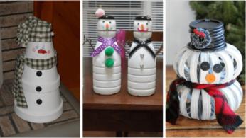 10 способов сделать снеговика из подручных средств 1   Дока-Мастер