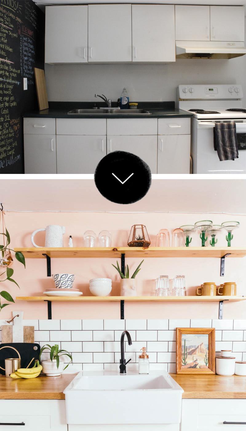 Стираем серые будни: персиковая кухня - 01