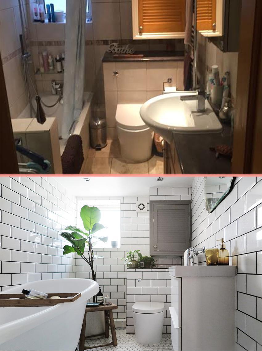Превращение бежевой ванной, в ванную в скандинавском стиле 02