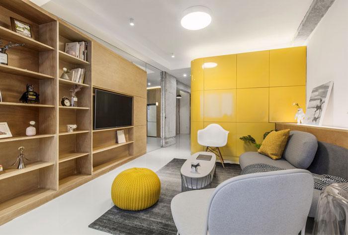 Современный дизайн квартиры площадью 40 м²
