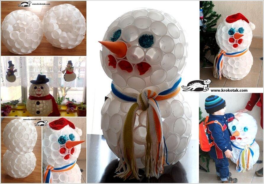10 способов сделать снеговика из подручных средств