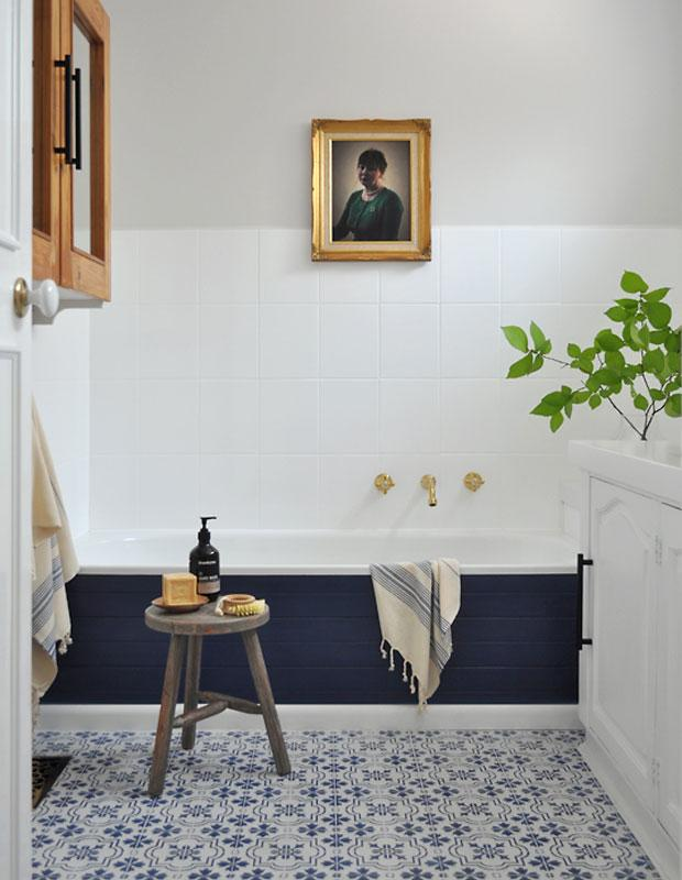 Бюджетный дизайнерский трюк который преобразит вашу ванную 07