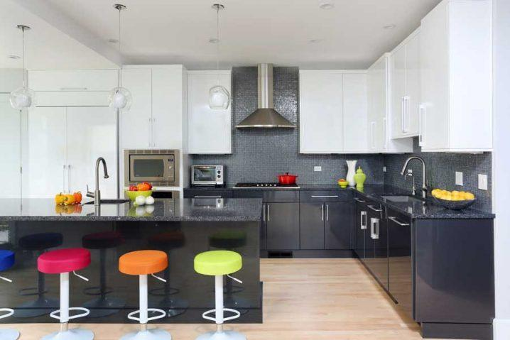 Идеи двухцветных шкафов для кухни 1 | Дока-Мастер