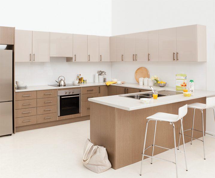 Идеи двухцветных шкафов для кухни 10 | Дока-Мастер