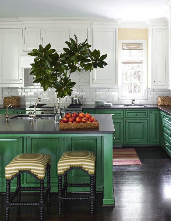 Идеи двухцветных шкафов для кухни 11 | Дока-Мастер