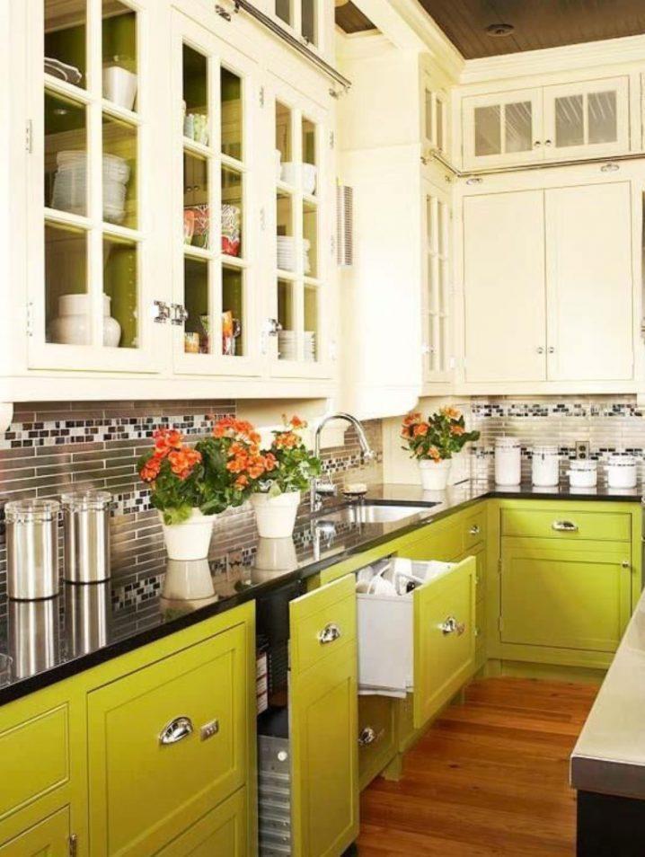 Идеи двухцветных шкафов для кухни 12 | Дока-Мастер