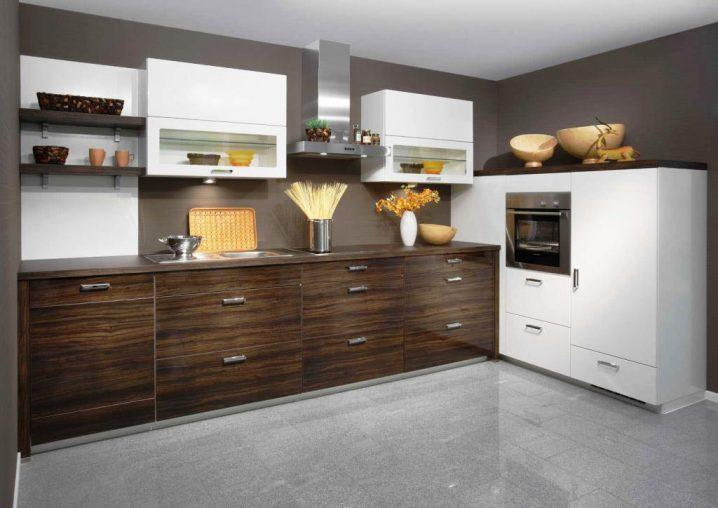 Идеи двухцветных шкафов для кухни 3 | Дока-Мастер
