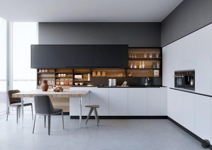 Идеи двухцветных шкафов для кухни 4 | Дока-Мастер