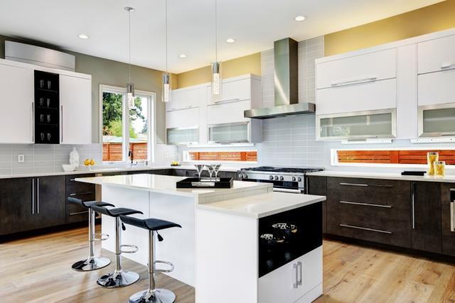 Идеи двухцветных шкафов для кухни 7 | Дока-Мастер